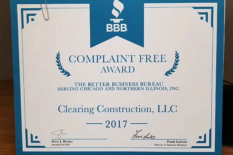 Clearing Construction, LLC.